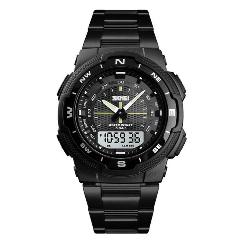 Skmei 1370 Stainless Steel Waterproof Digital Watch For Men (2)