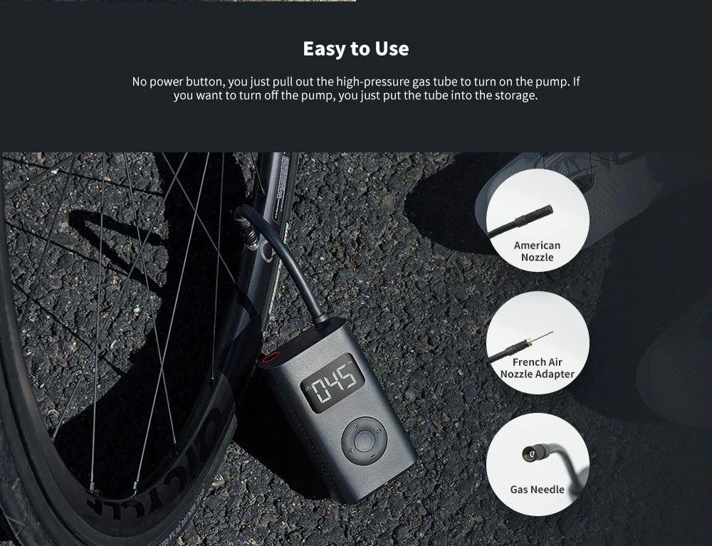Xiaomi 150psi Air Pump Compressor For Car Bike Basketball Football (2)