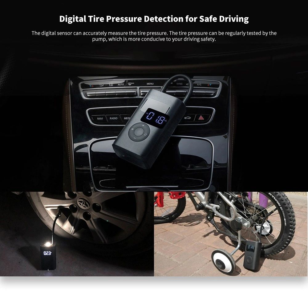 Xiaomi 150psi Air Pump Compressor For Car Bike Basketball Football (5)