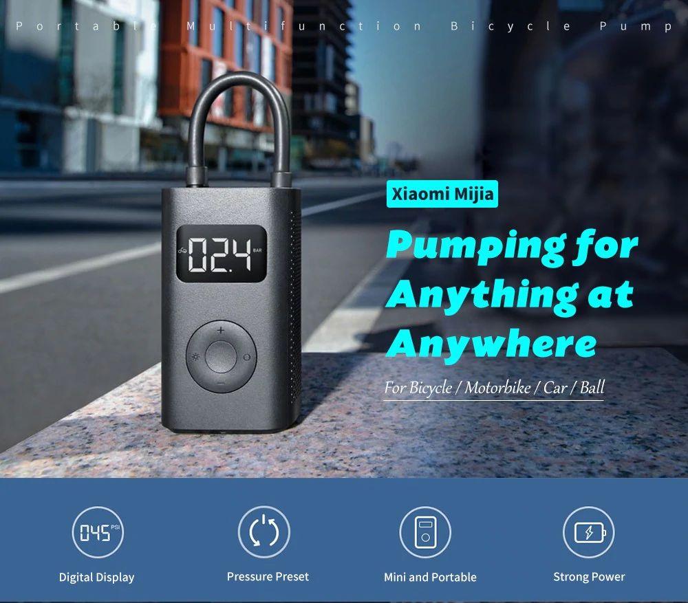 Xiaomi 150psi Air Pump Compressor For Car Bike Basketball Football (6)