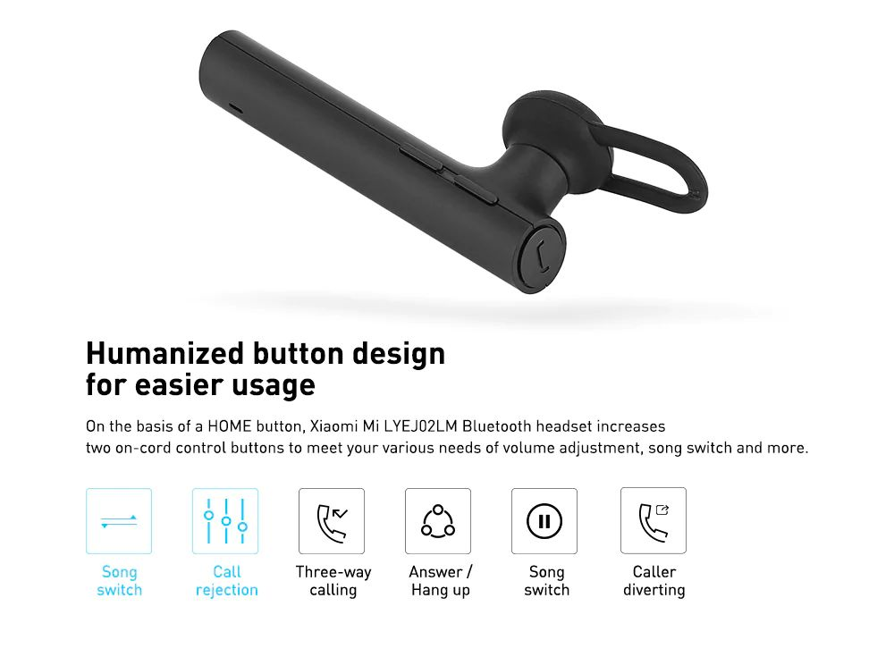 Xiaomi Mi Single Ear Bluetooth Headset (3)