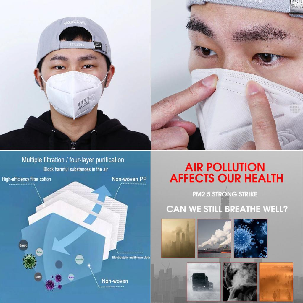 Kn90 Face Mask Pm2 5 Anti Dust Breathable (2)