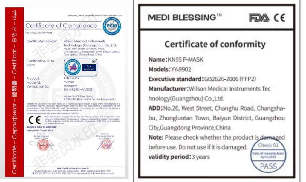 Medi Blessing Kn95 4 Layer P Mask Ffp2 Face Mask
