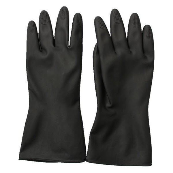 Protective Latex Industrial Rubber Hand Gloves (1)