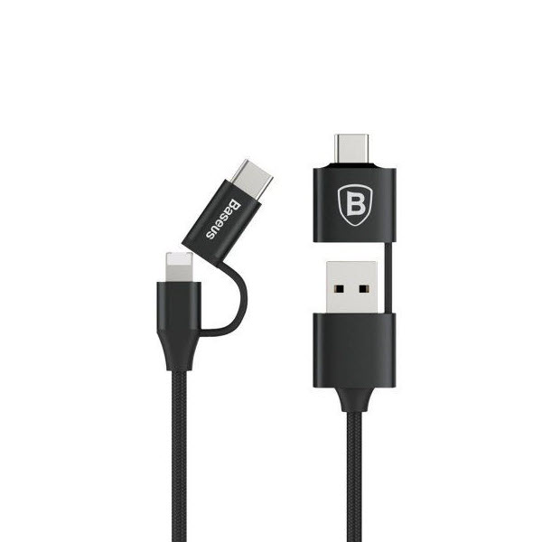 Baseus 5 In 1 2a Charging Cable Multifunctional Data Cable Micro Usb Lightning Type C (2)