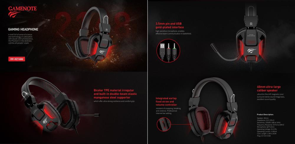 Havit H2168d Gaming Headphones Usb With 3 5mm Jack (1)