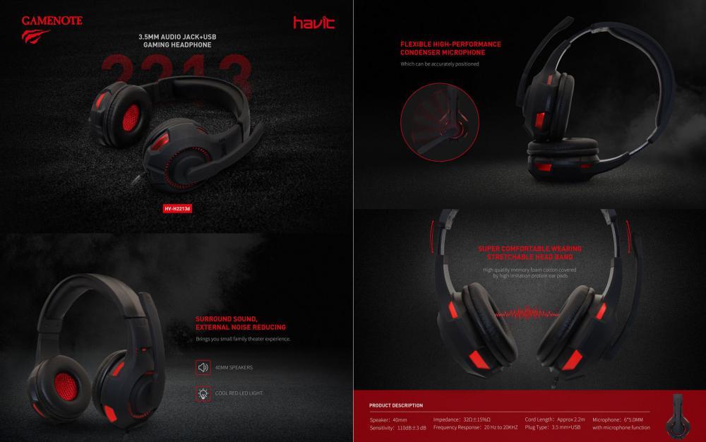 Havit Hv H2213d Usb Gaming Headphones 3 5mm Audio Jackusb (2)