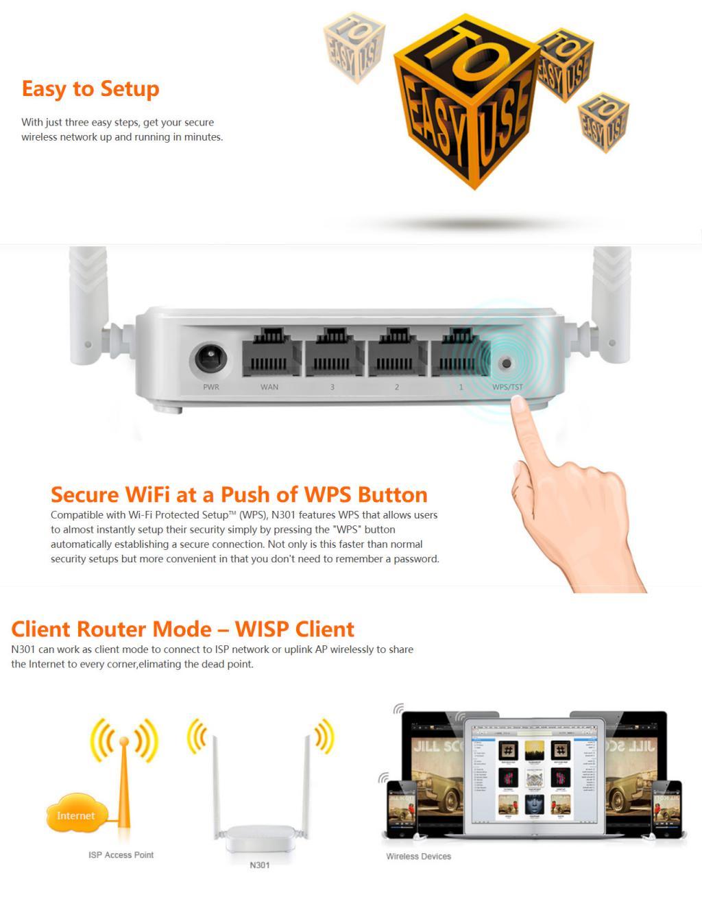 Tenda N301 Wireless Router (1)