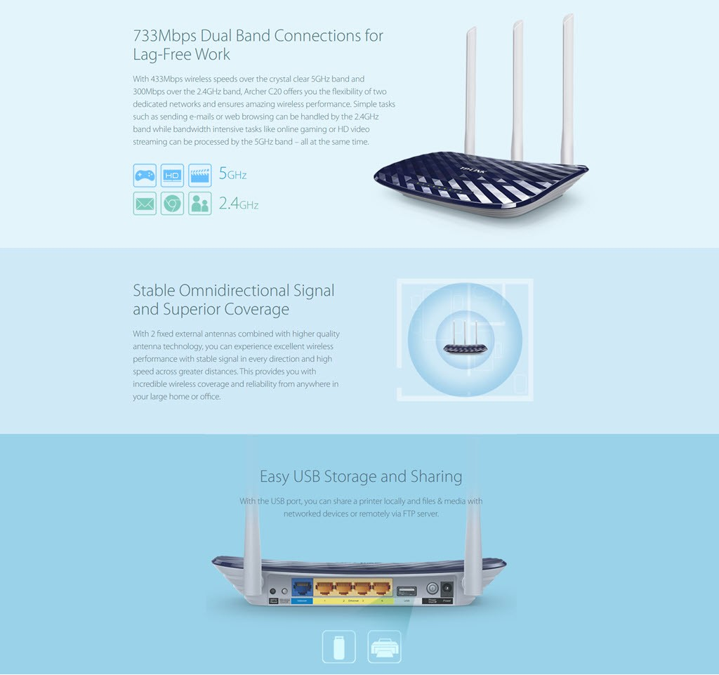 Tp Link Archer C20 Wireless Dual Band Router (1)