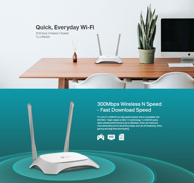 Tp Link Tl Wr840n Wireless Router (2)