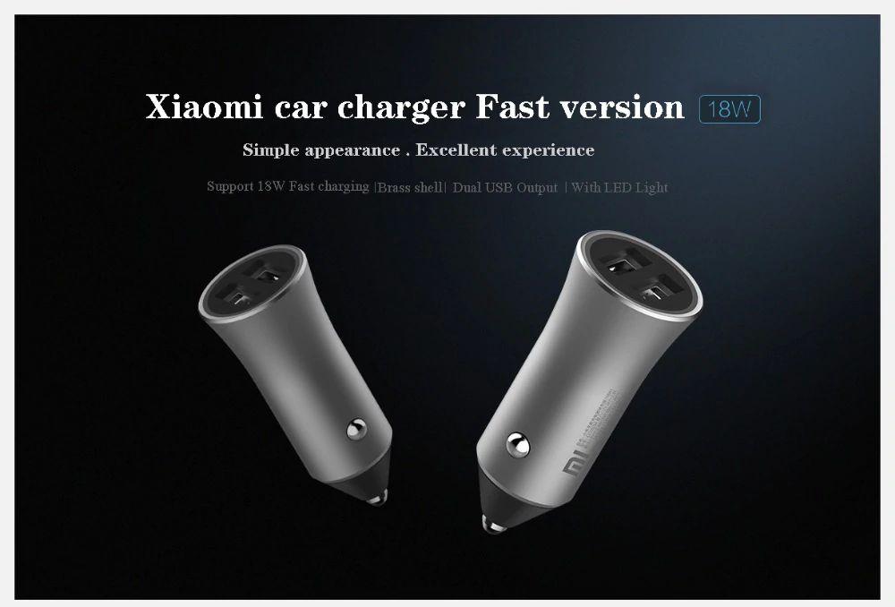 Xiaomi Car Charger 37w Dual Ports Usb Fast Charging (2)