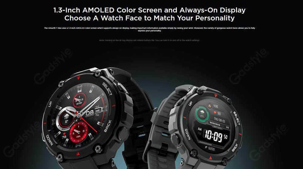 Amazfit T Rex Dual Gps Smartwatch With Military Grade Certifications (2)