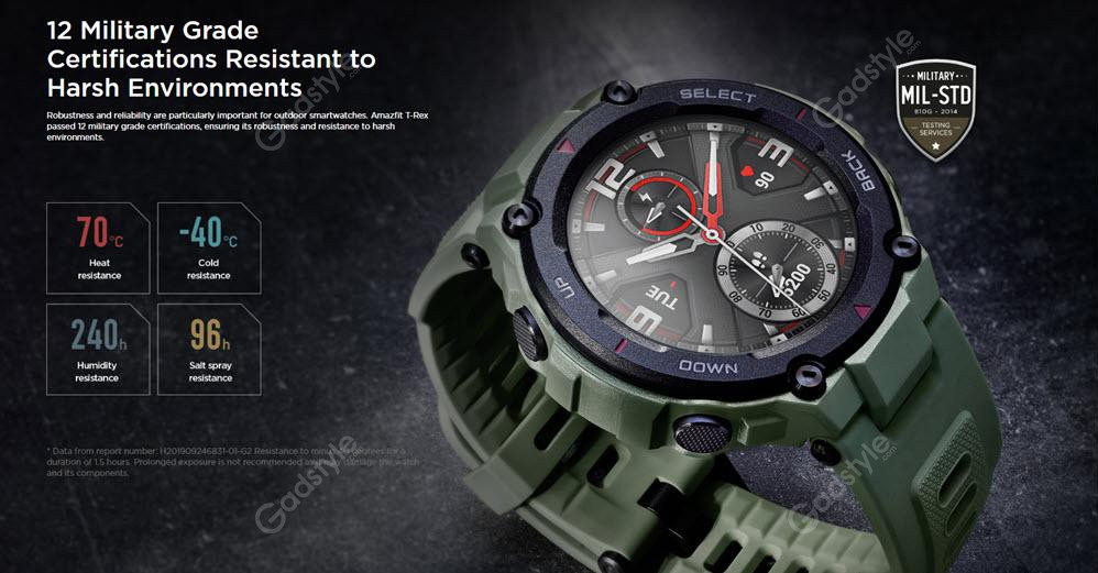Amazfit T Rex Dual Gps Smartwatch With Military Grade Certifications (5)