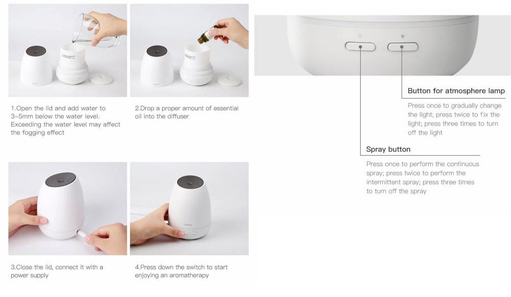Baseus Creamy White Aroma Diffuser (3)