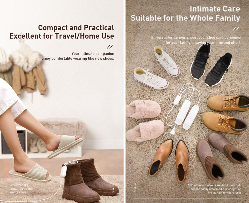 Baseus Foot Quick Heat Sterilization Shoe Dryer (4)