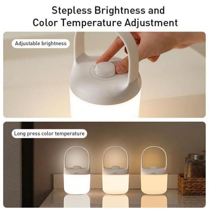Baseus Moon White Series Portable Color Lamp (4)