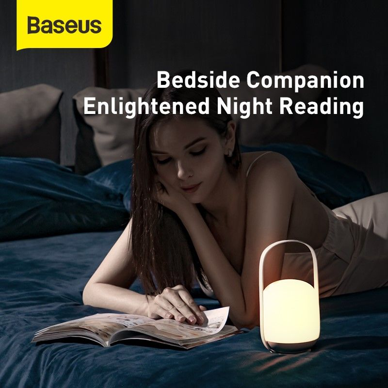 Baseus Moon White Three Step Colour Dimming Portable Lamp (3)