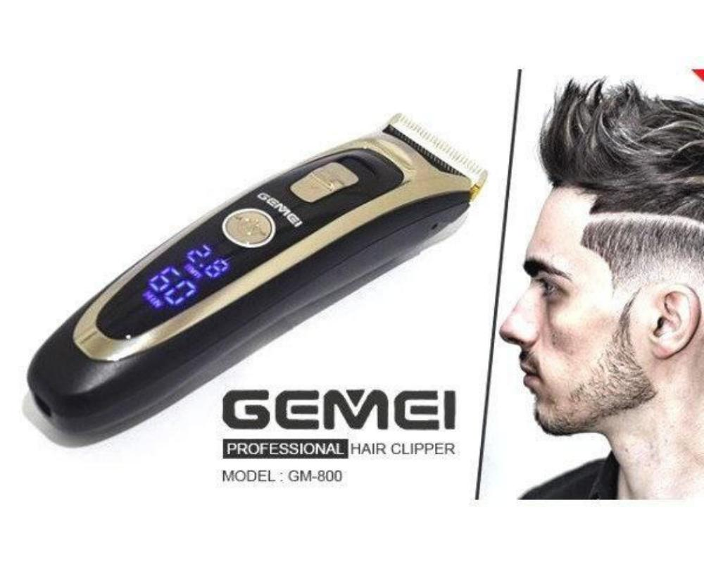 Gemei Gm 800 Rechargeable Hair Trimmer With Digital Display (2)