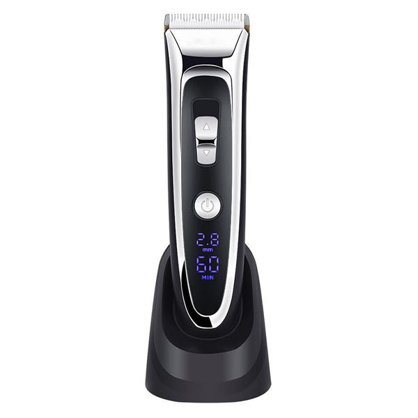 Gemei Gm 800 Rechargeable Hair Trimmer With Digital Display (3)