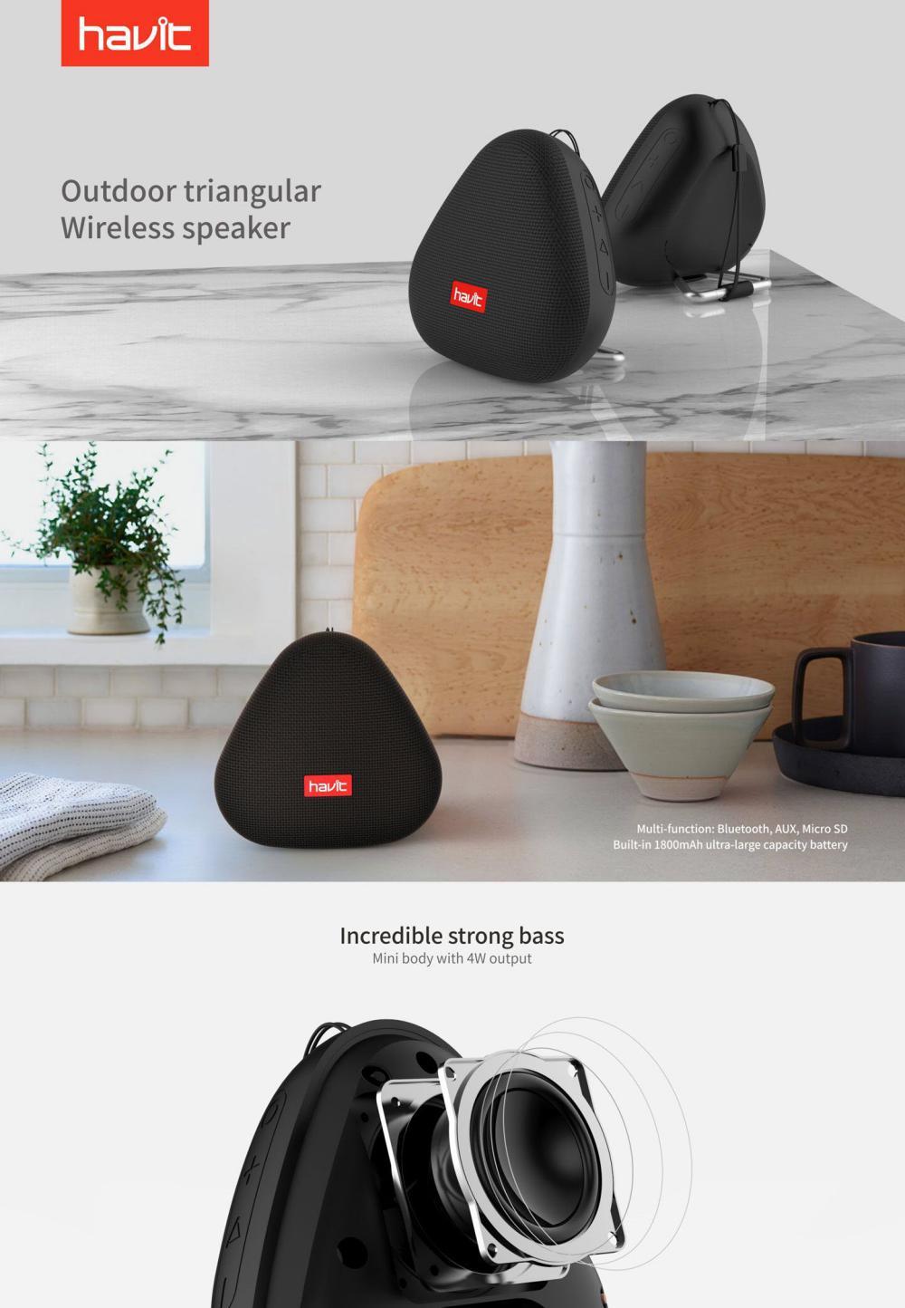 Havit M36 Outdoor Triangular Wireless Speaker (1)