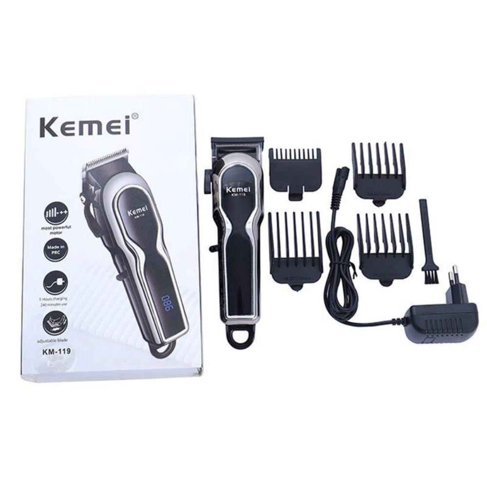 Kemei Km 119 Professional Rechargeable Cordless Hair Clipper Hair Shaving Machine (2)