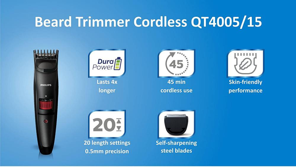 Philips Qt4005 Beard And Stubble Trimmer (5)