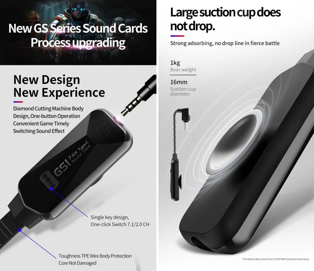 Plextone Gs1 Virtual 7 1ch Sound Card Type C To 3 5mm (3)