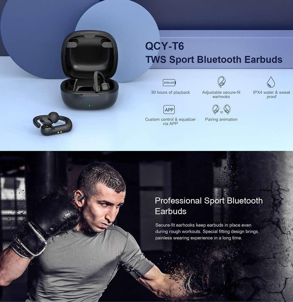 Qcy T6 Tws Wireless Sport Earhooks Earphone (3)
