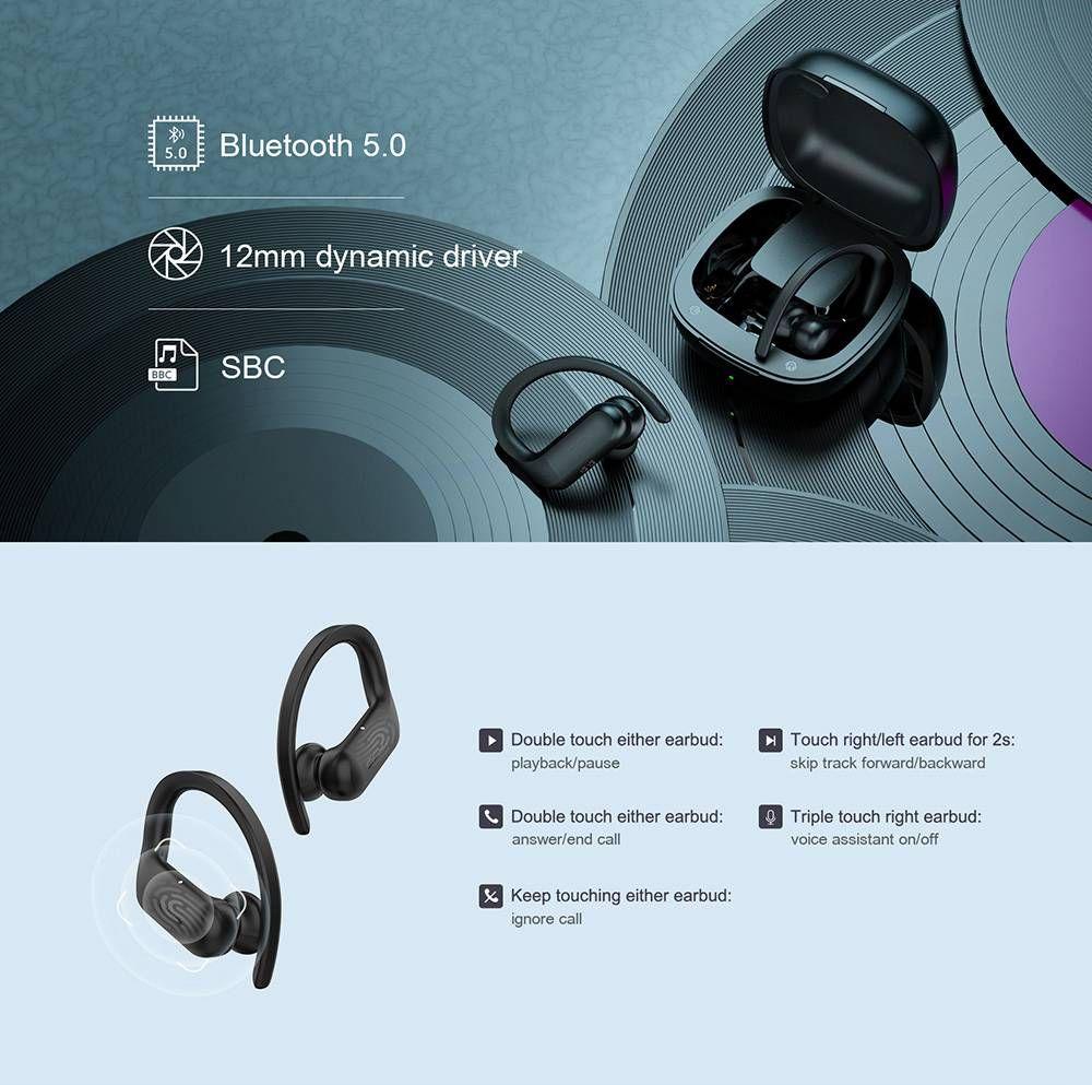 Qcy T6 Tws Wireless Sport Earhooks Earphone (6)