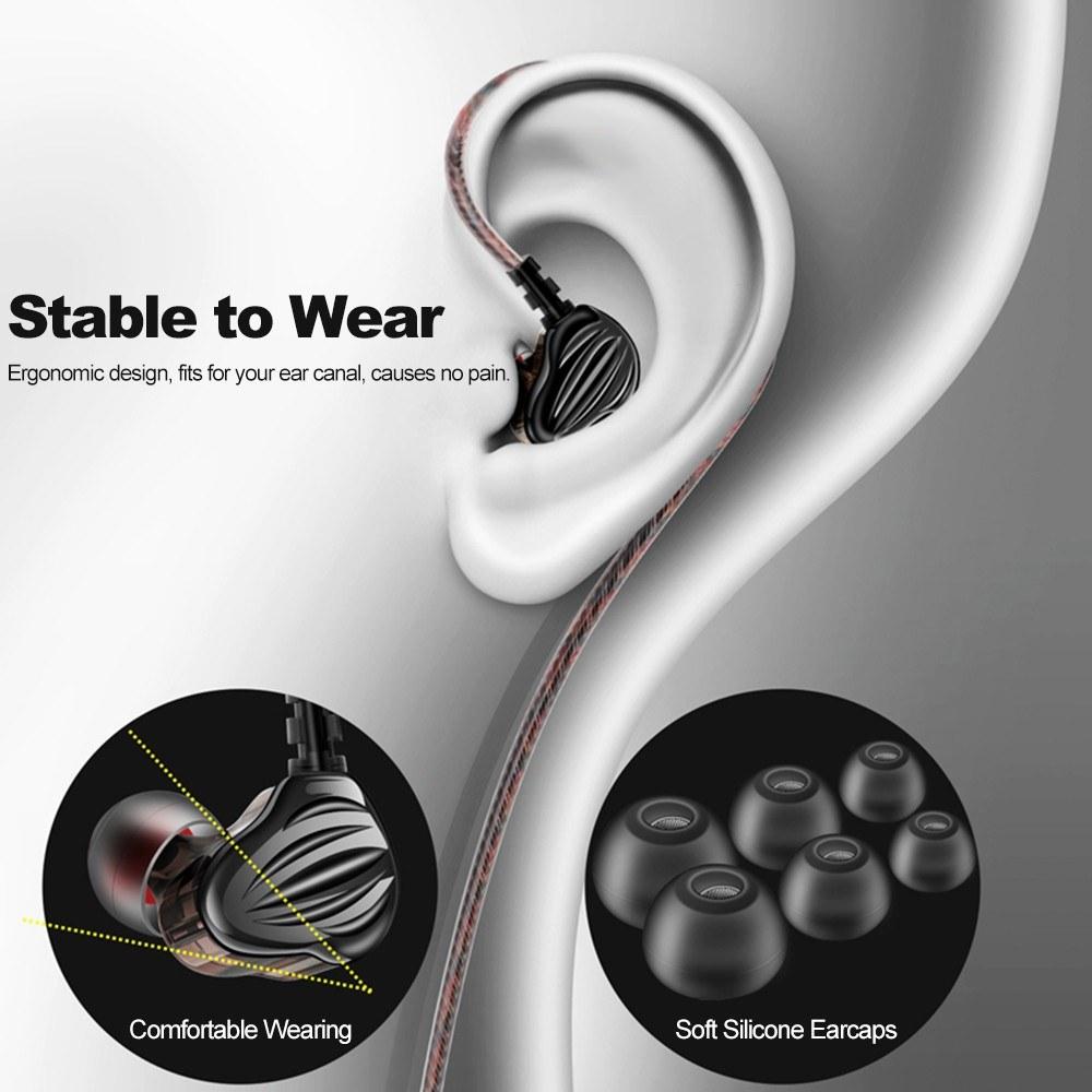 Qkz Ck4 Dual Driver In Ear Earphones (3)