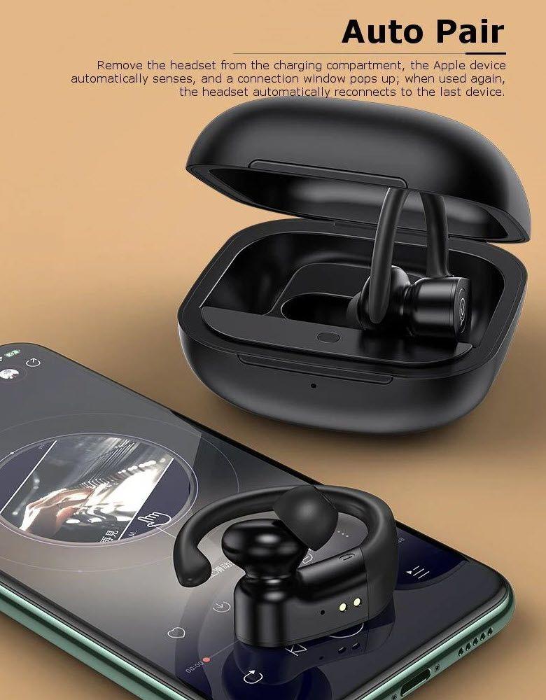 Usams Us Yi001 Yi Series Ear Hook Tws Waterproof Earphones (5)