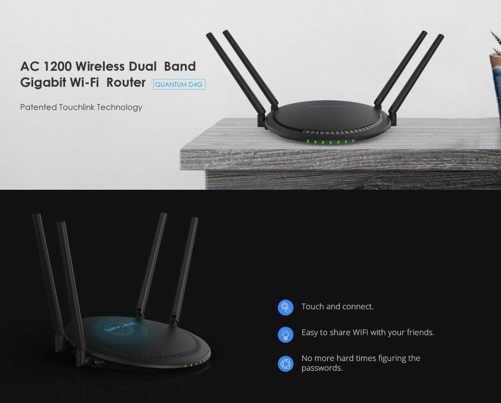 Wavlink Ac1200 Dual Band Gigabit Wireless Router Ws Wn531g3 (6)