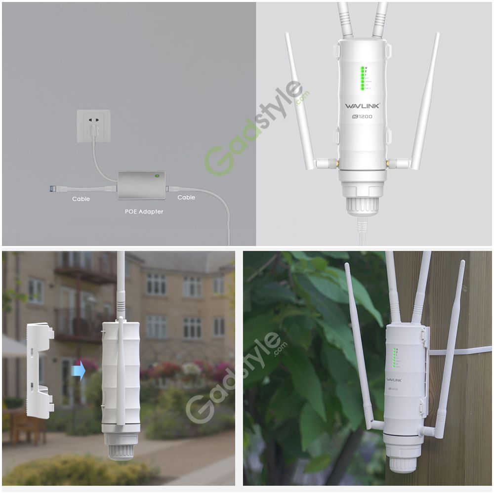 Wavlink Ac1200 Dual Band High Power Outdoor Wireless Router (1)