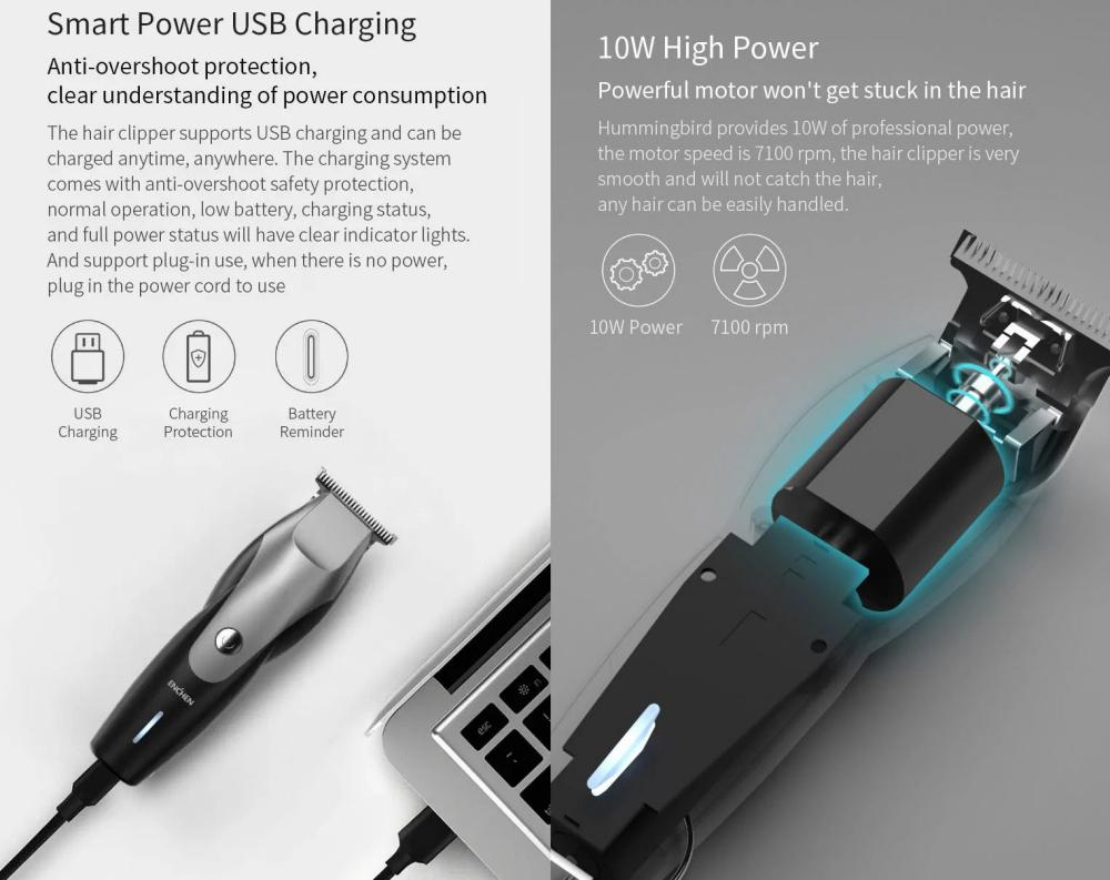 Xiaomi Enchen Hummingbird Hair Trimmer Usb Charging Low Noise (6)