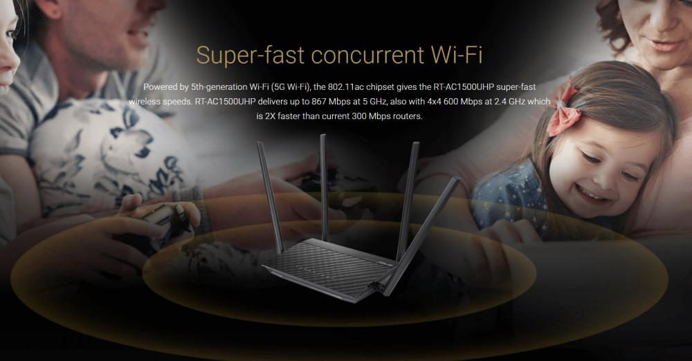 Asus Rt Ac1500uhp Dual Band Wifi Router (5)