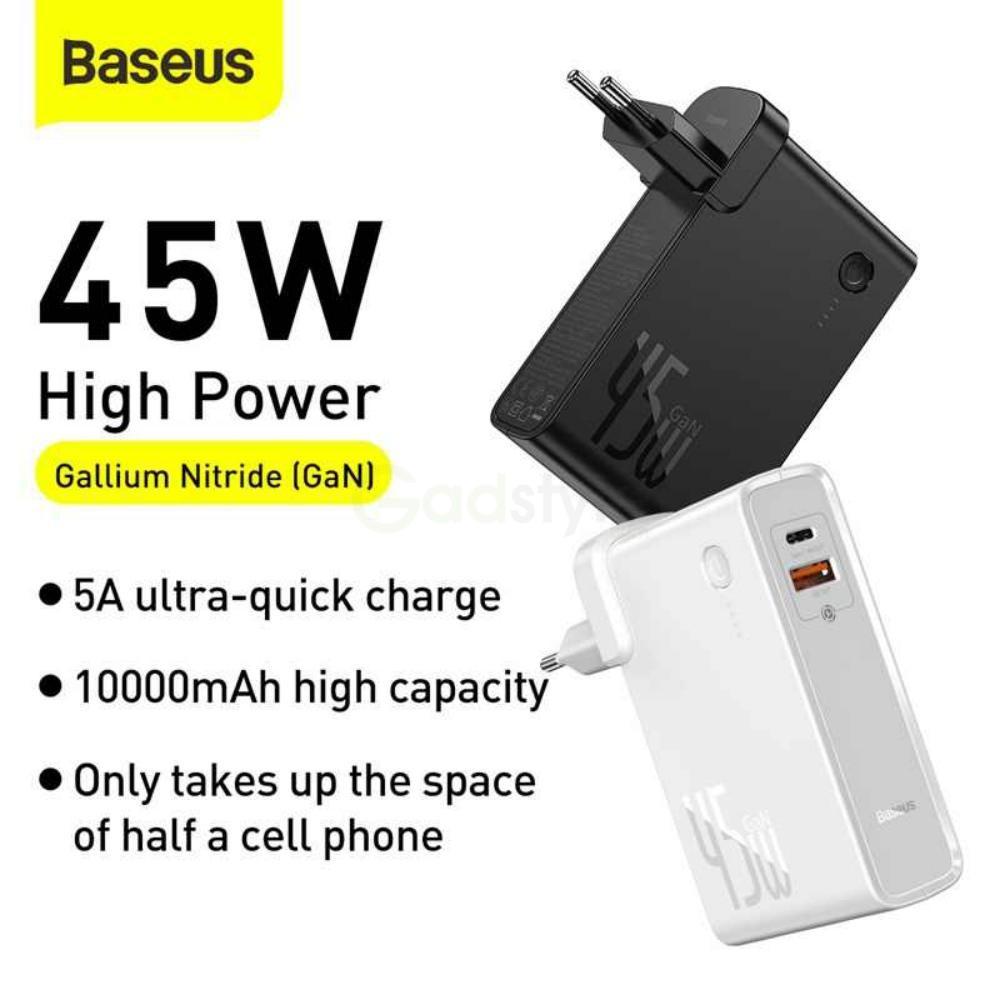Baseus 2 In 1 Gan 45w Power Bank 10000mah (2)