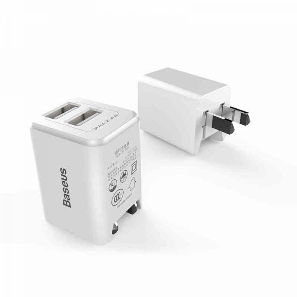 Baseus Dual Usb Charger 2 4a Fast Charge (2)