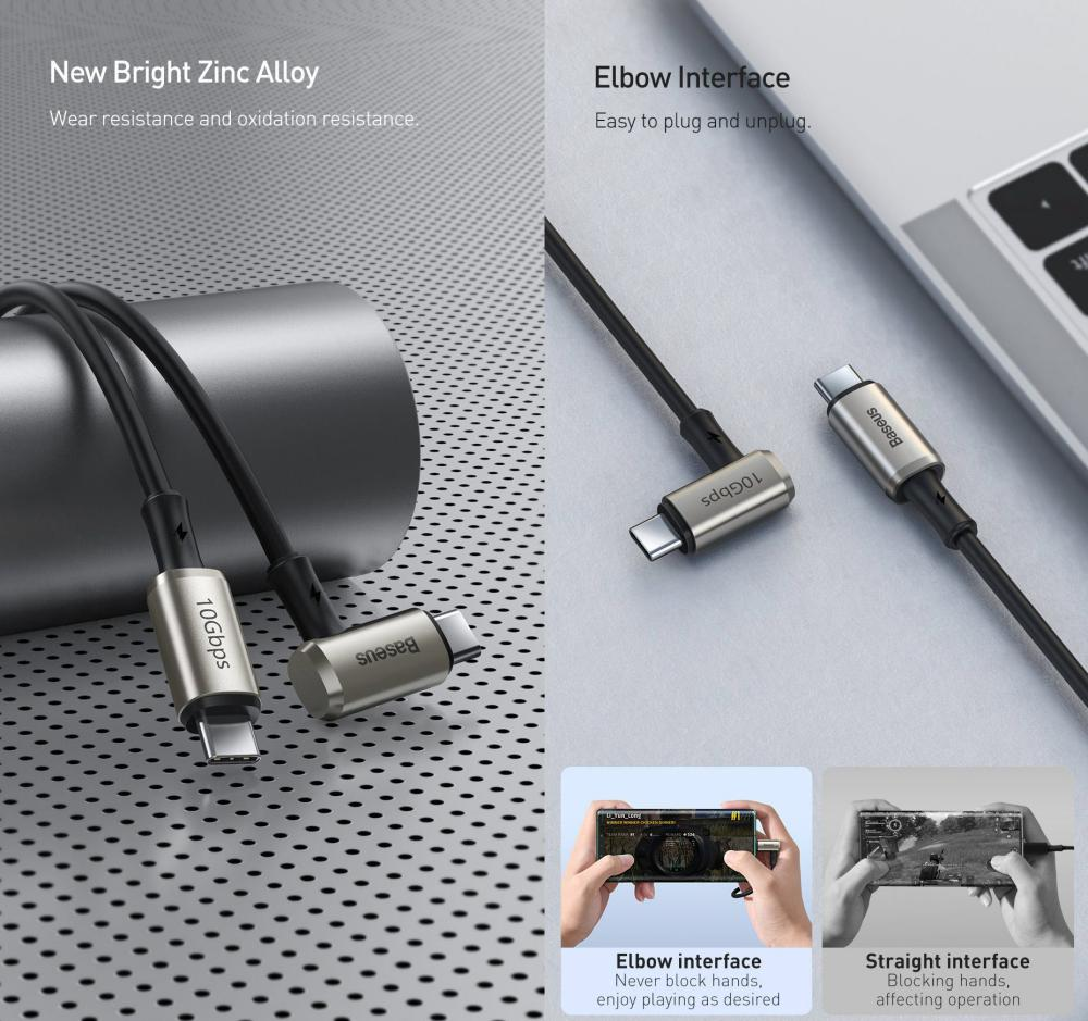 Baseus Hammer Cable Type C Pd3 1 Gen2 100w20v 5a (5)