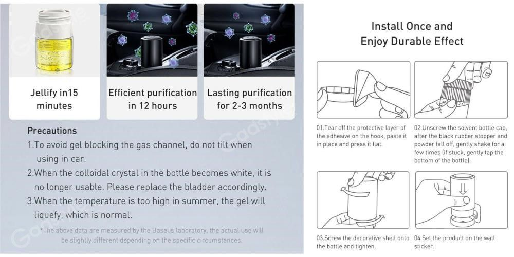 Baseus Micromolecule Degerming Device Car Sanitizer Air Purifier (5)