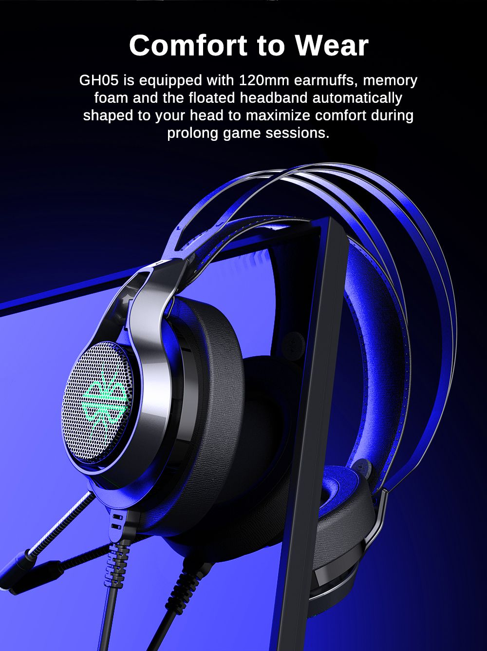 Dacom Gh05 Wired Over Ear Gaming Headphone (1)