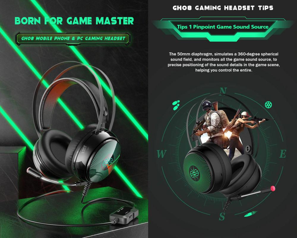 Dacom Gh08 Gaming Headset With Led Light Hd Mic (1)