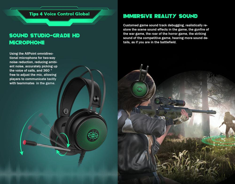 Dacom Gh08 Gaming Headset With Led Light Hd Mic (2)