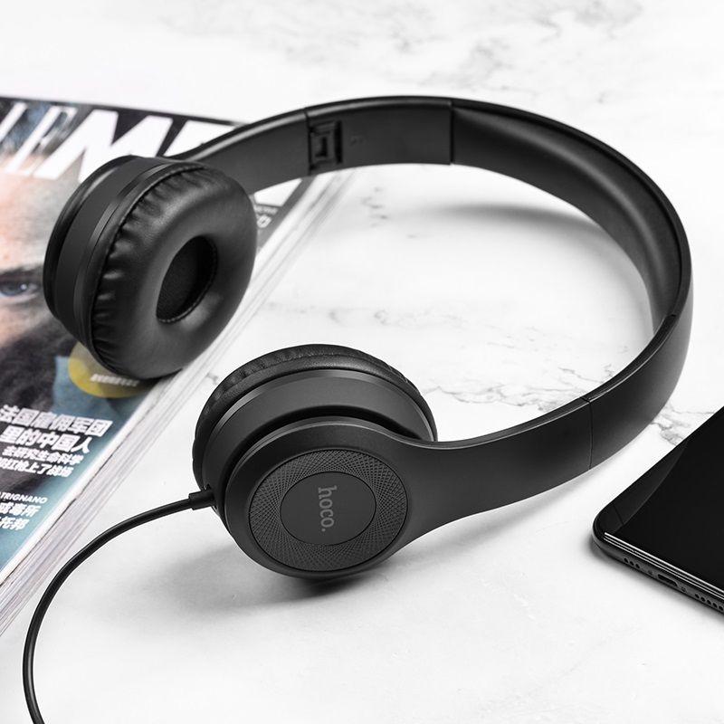 Hoco W21 Wired Foldable Headphones (3)