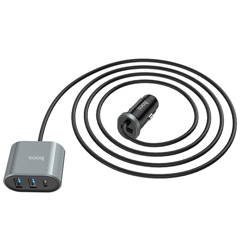 Hoco Z35 Companheiro Pd3 0 Car Charger With Extender For Front And Rear Seat (5)