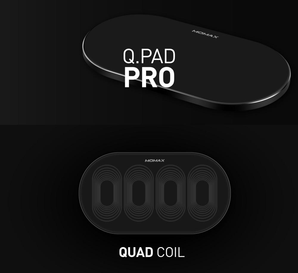 Momax Q Pad Pro Qual Coil Wireless Charger (2)