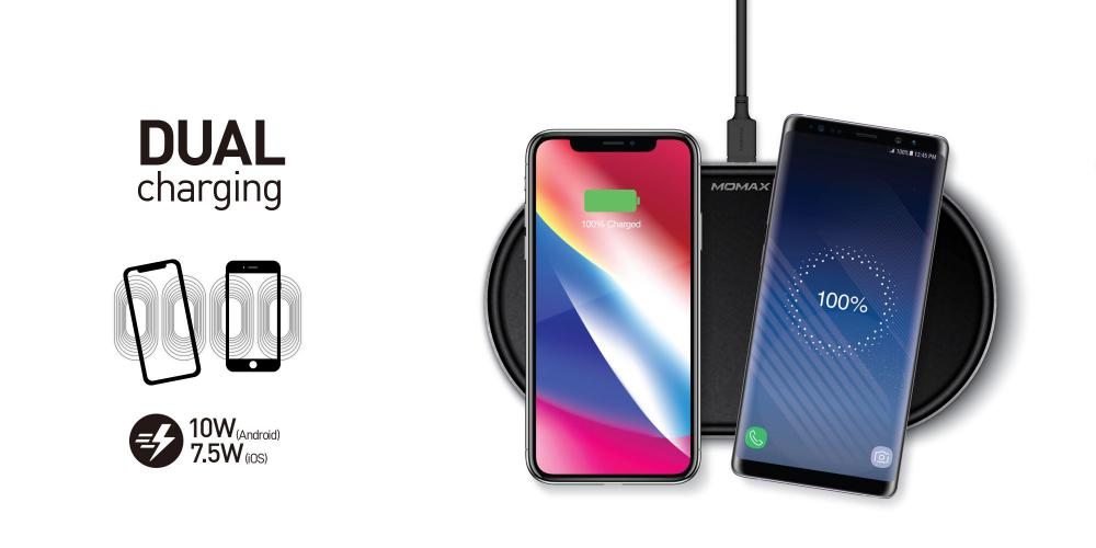 Momax Q Pad Pro Qual Coil Wireless Charger (3)