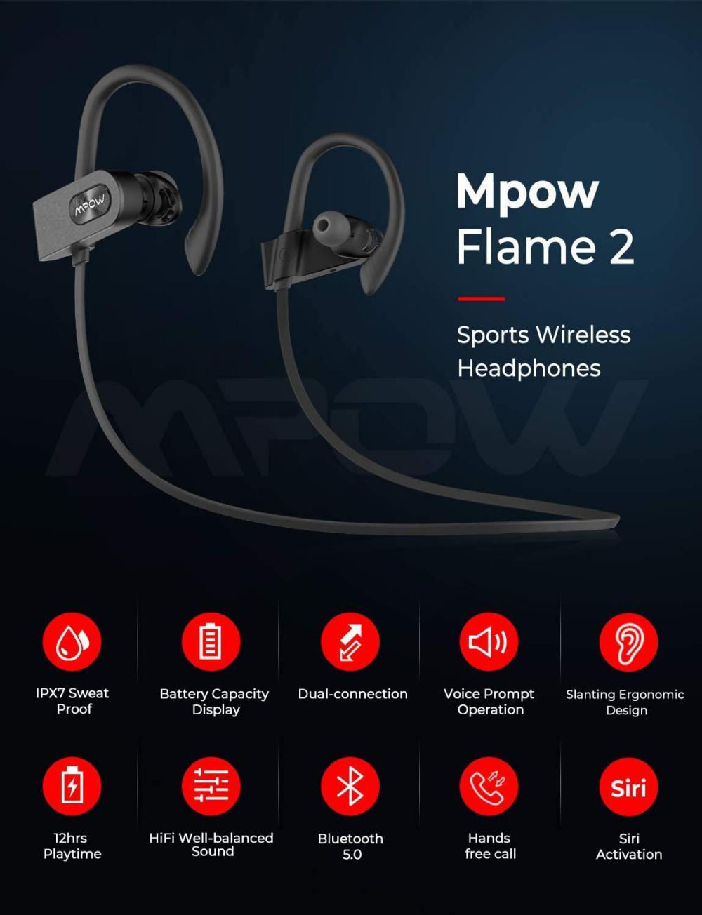 Mpow Flame 2 Waterproof Bluetooth Earphones (3)