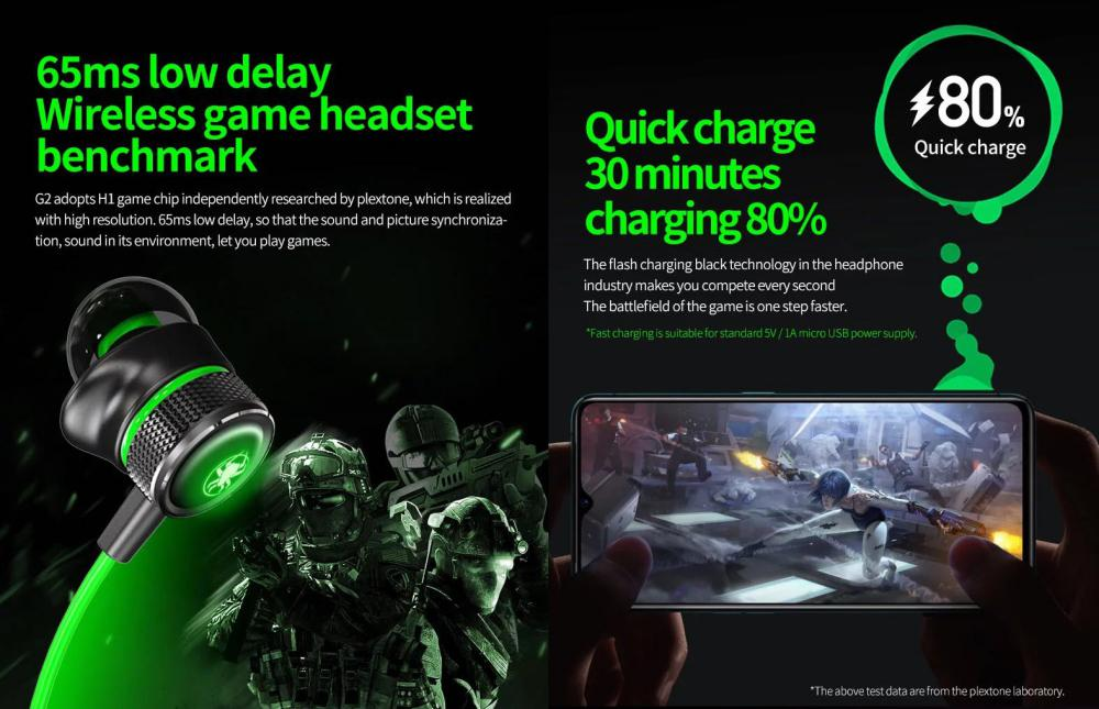 Plextone G2 Virtual 7 1ch Game 3d Sound Effect Gaming Wireless Earphone Wireless (3)