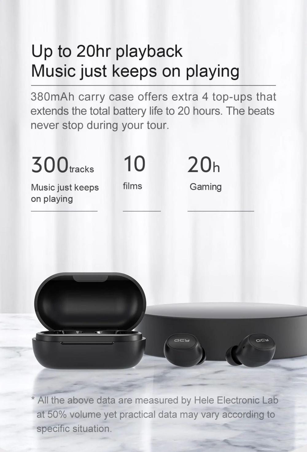 Qcy M10 Tws Bluetooth V5 0 Wireless Earphones 3d Stereo Earbuds (3)