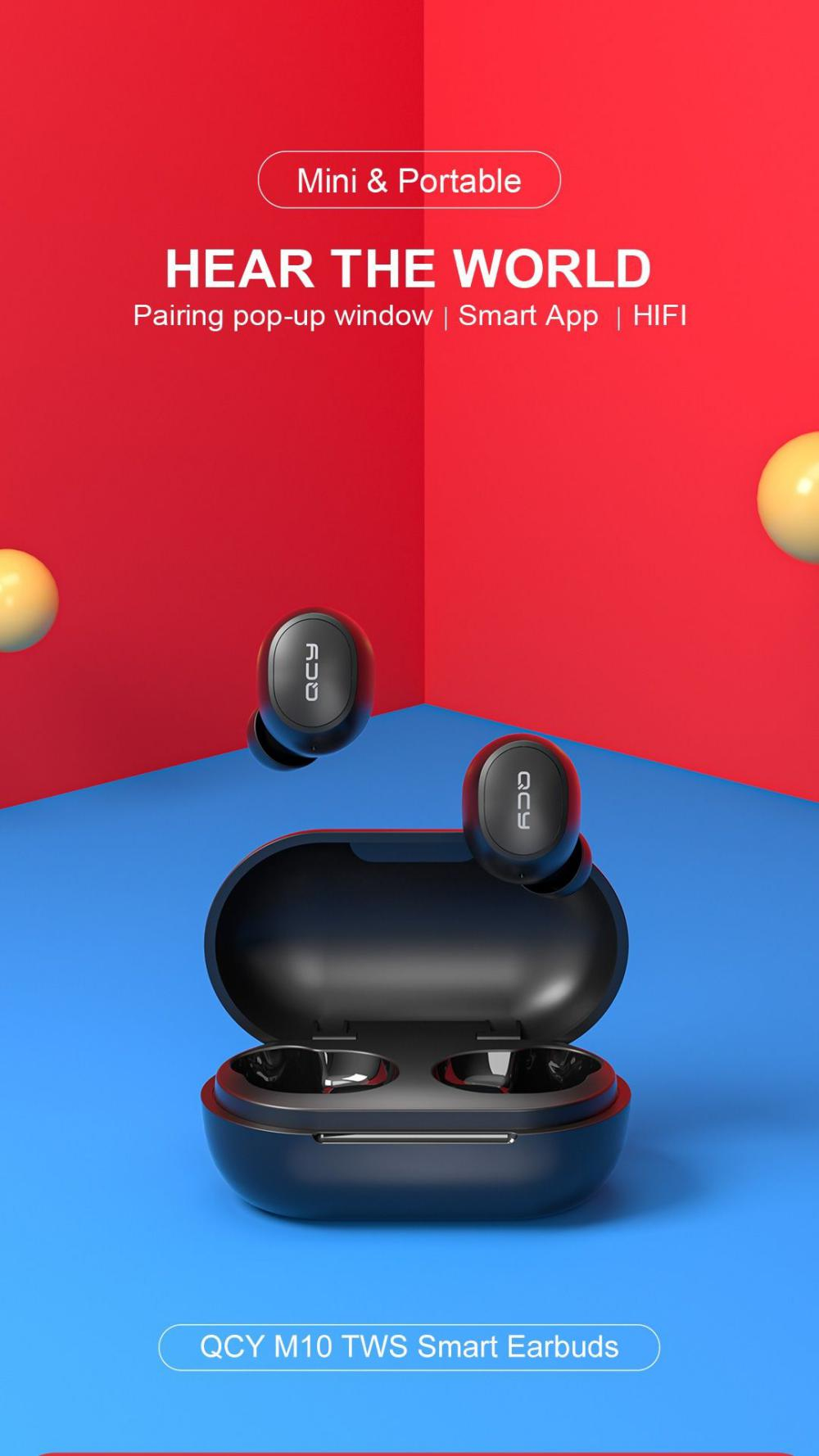 Qcy M10 Tws Bluetooth V5 0 Wireless Earphones 3d Stereo Earbuds (4)